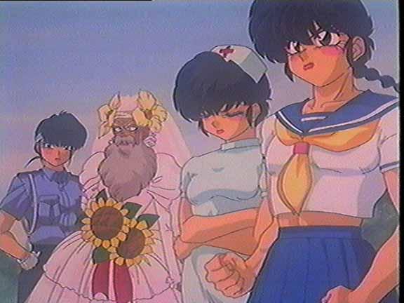 Ranma and Ryouga in drag