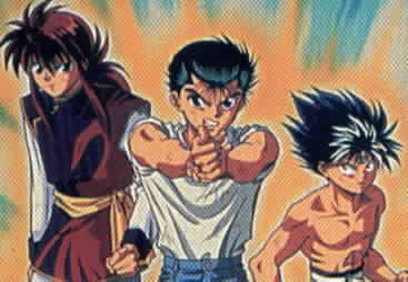 Kurama, Yusuke, and Hiei